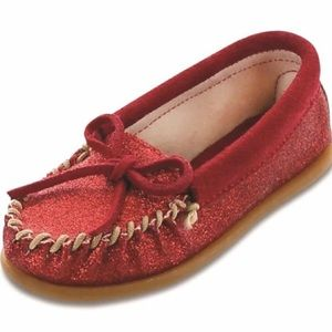 Minnetonka | Girls | Sparkly | Moccasins | Red | 2